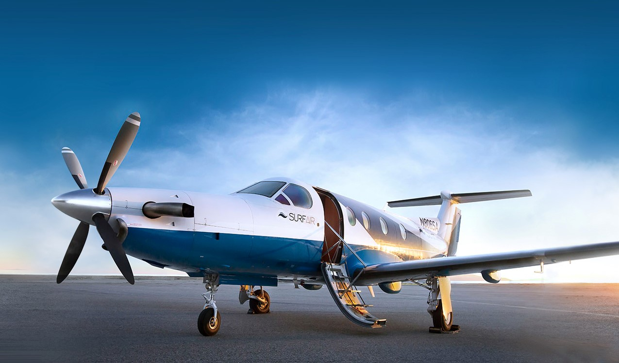 A plane owned by the startup, Surfair