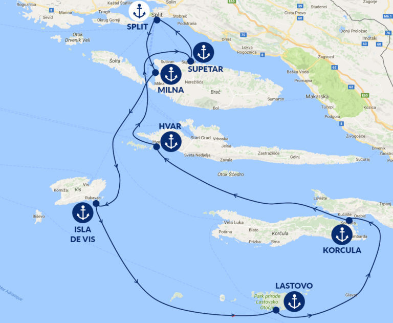 itinerary of croatia
