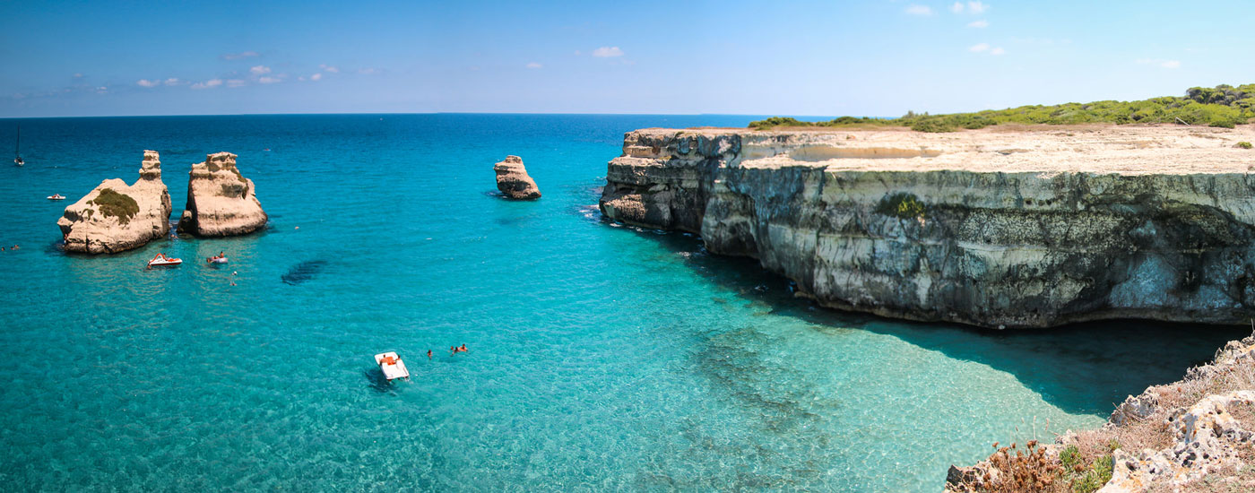 Beautiful, clear waters in Torre dell'Orso