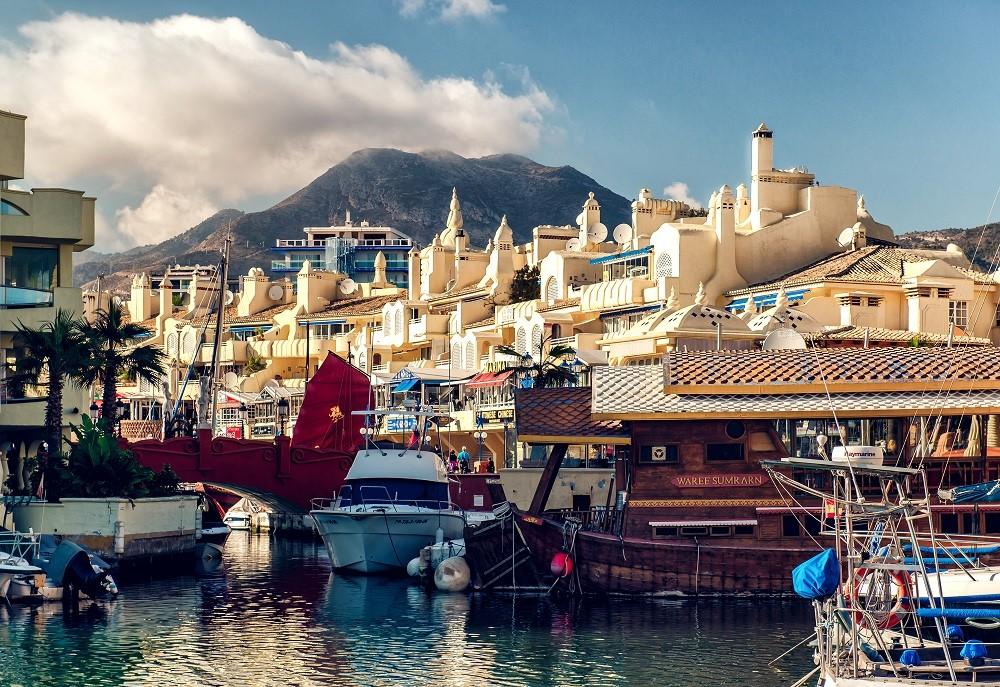 Spain malaga port boat