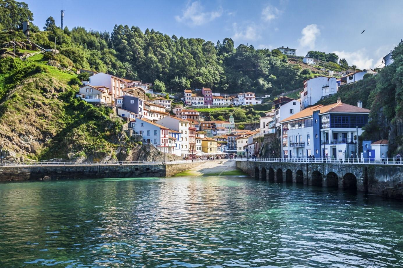 Spain asturias harbour