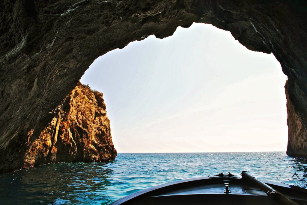One of the many caves on the coast of Malta