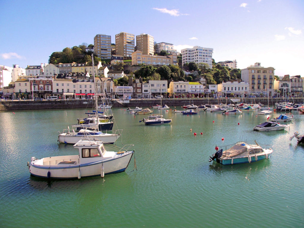 Photo of Torquay's harbour. perfect to rent a boat