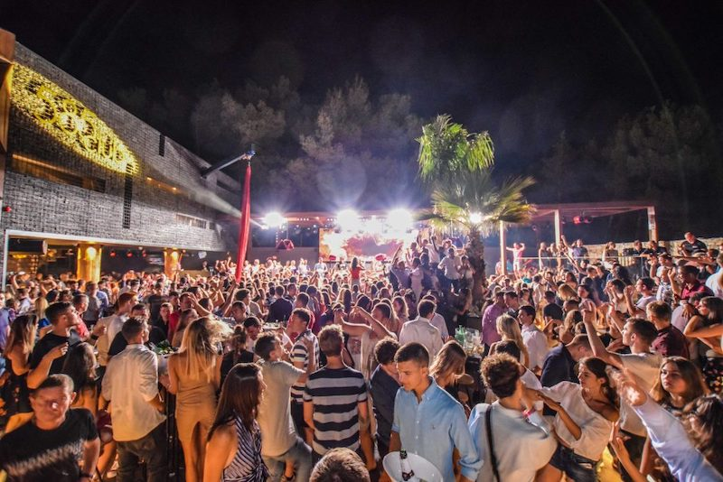 picture of a party in the island of Brac, croatia