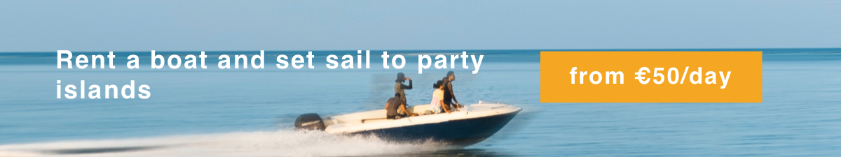 Rent a boat in Croatia and set sail to party islands from 50€ / day