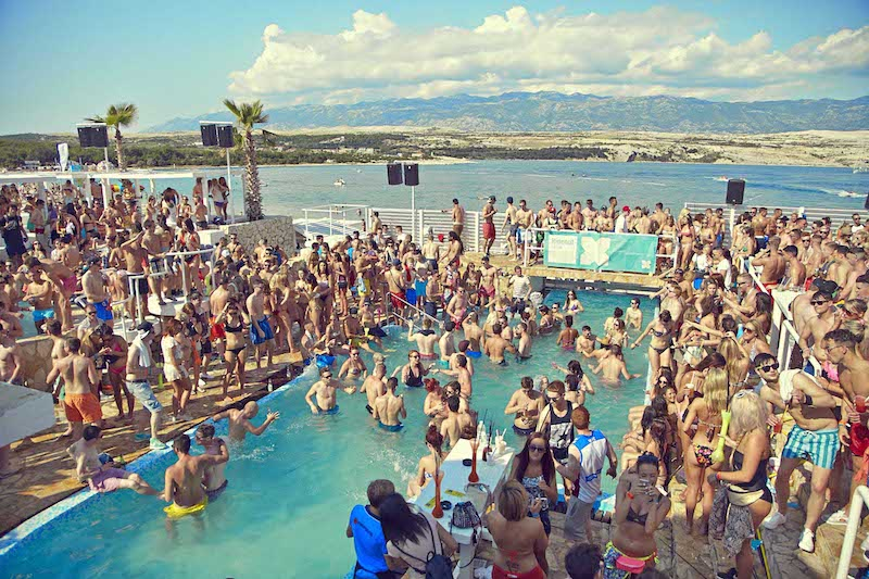 photo of a party in the island of Pag in Croatia