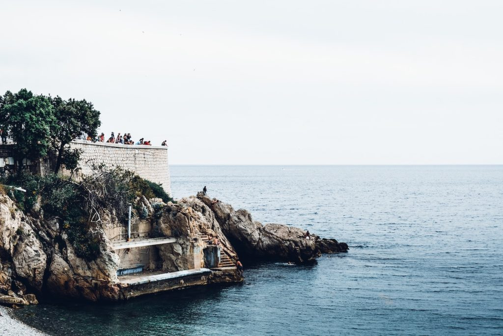 Cliff on the coast of Nice