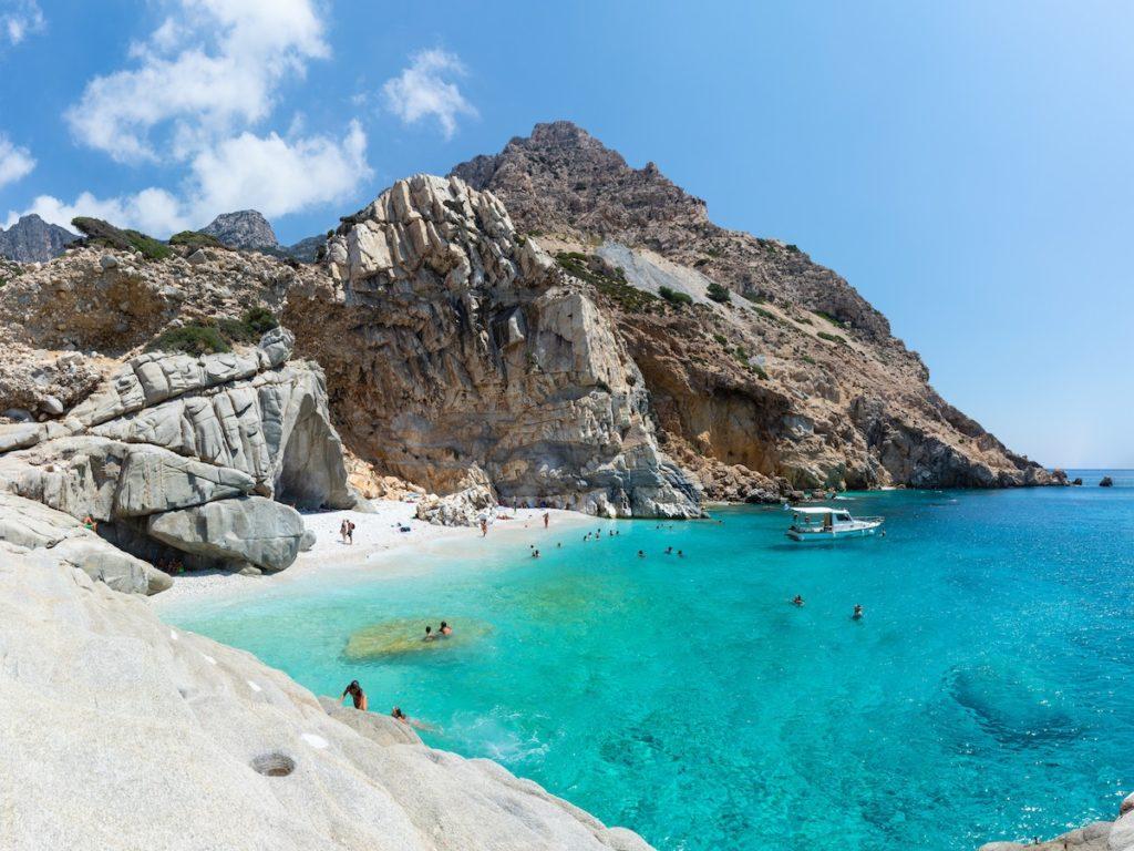 View of Seychelles Beach in Greece