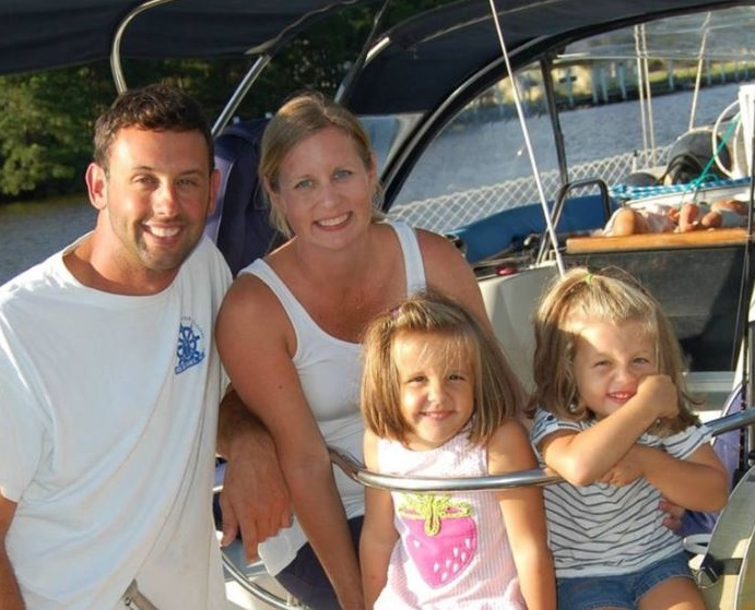 Bryan and Laura Marrick sailing with their kids all over the world on the All in sailing boat.