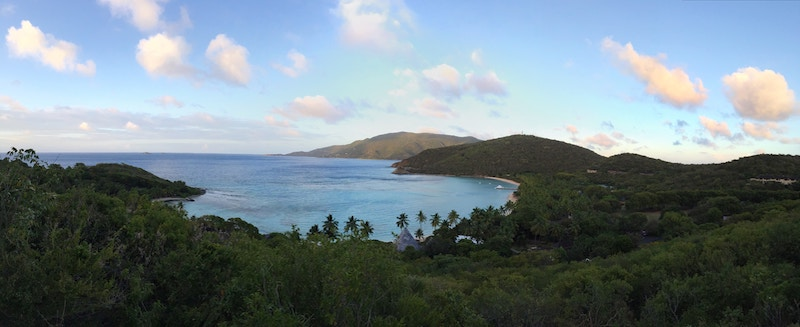 Overview of one of the coasts of the BVI