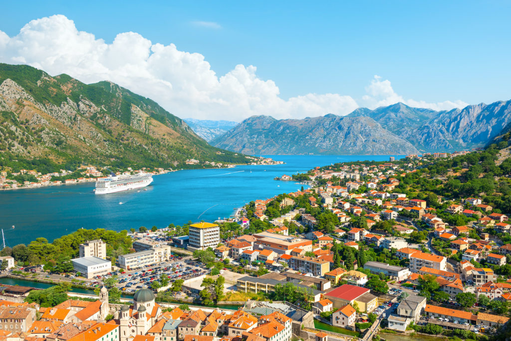 A view of the top of the bay in Kotor