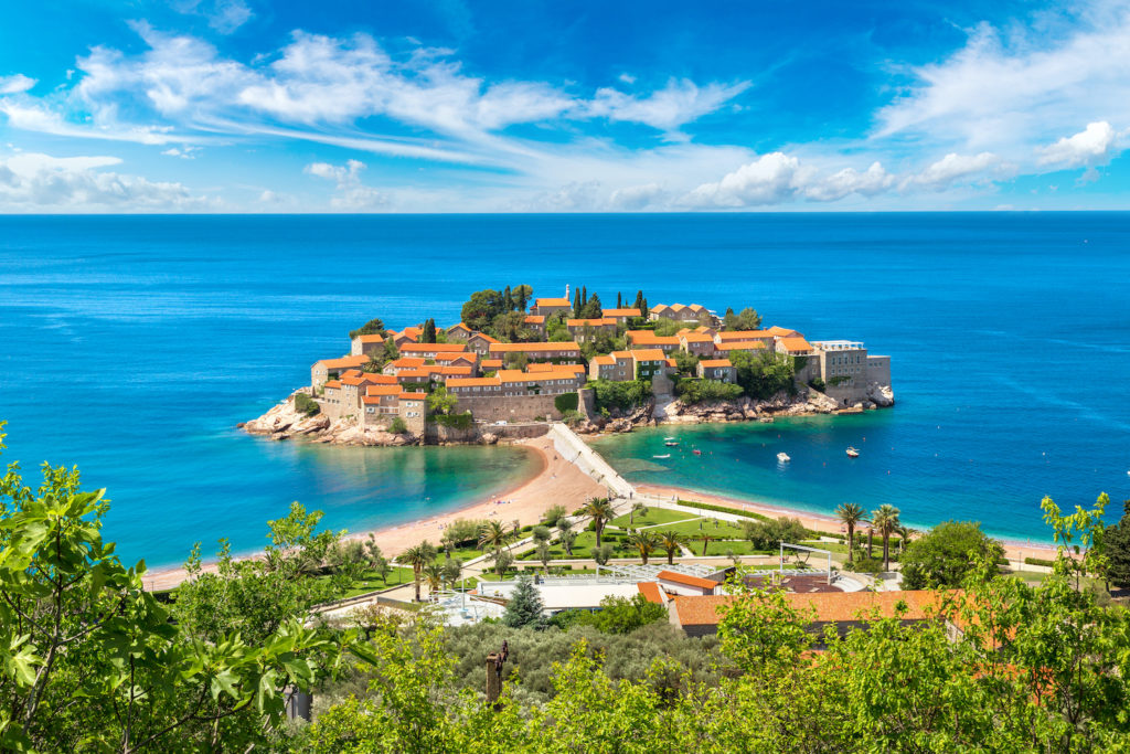 View of Budva in Montenegro