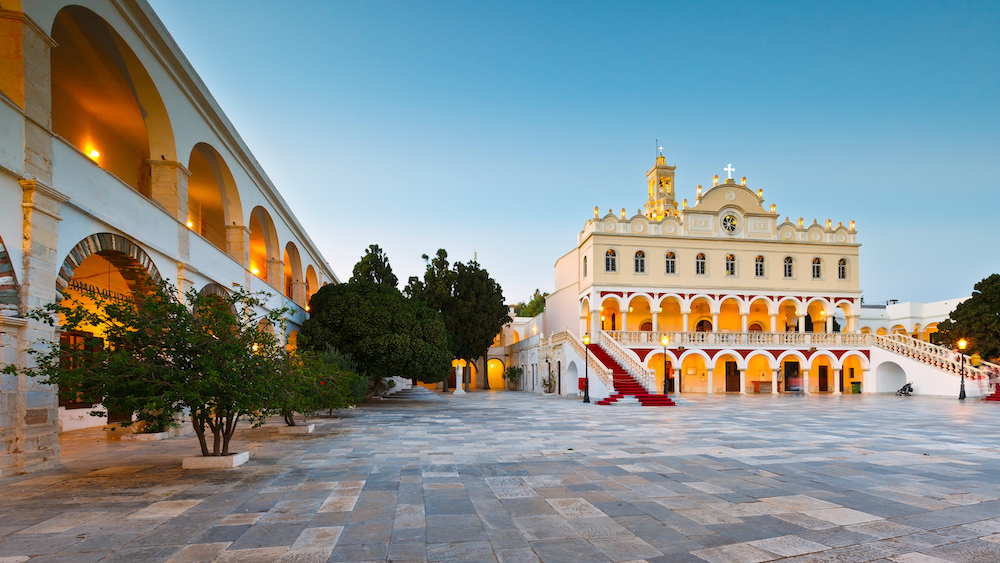 A view of the beautiful architecture in Tinos, Greece