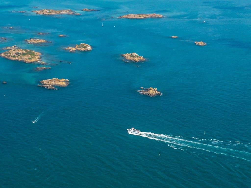 Aerial view of the Chausey Islands