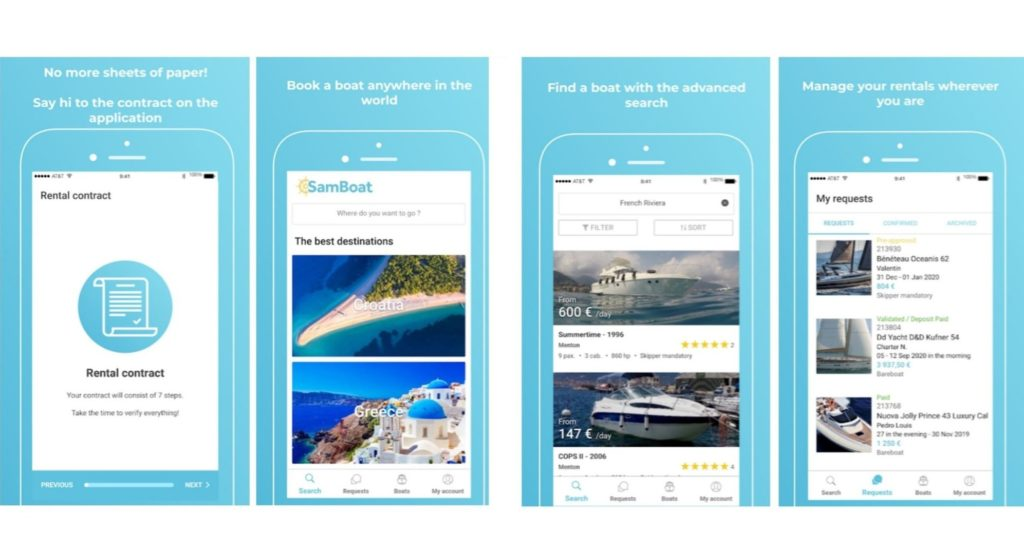 View of the SamBoat app