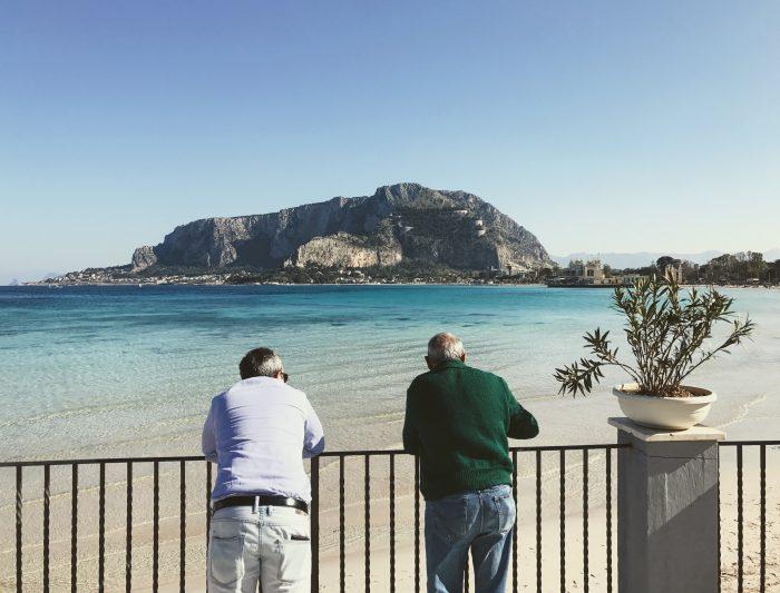 Bay of Mondello in Sicily