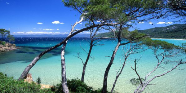 View of Port Cros in South of France