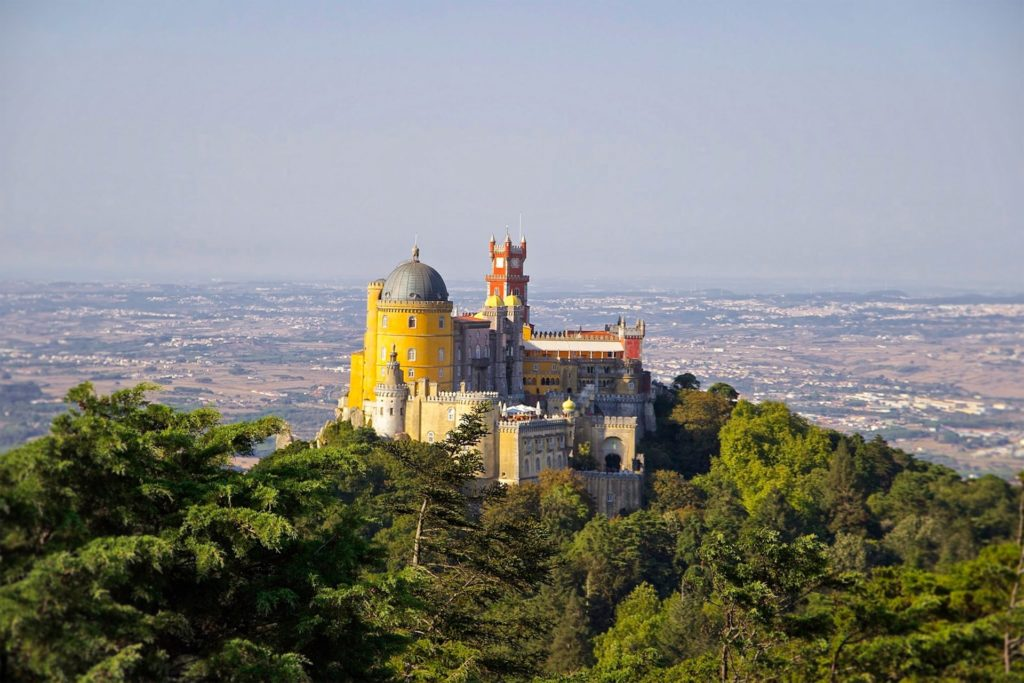 View of the stunning castle in Sintra