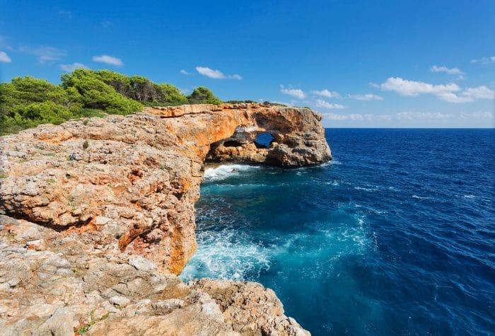 Stunning cliff in Cala Sa Nau