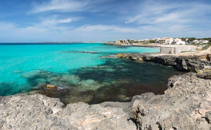 A beach in Es Trenc