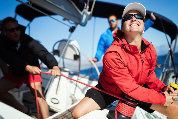 skipper on board of a sailboat