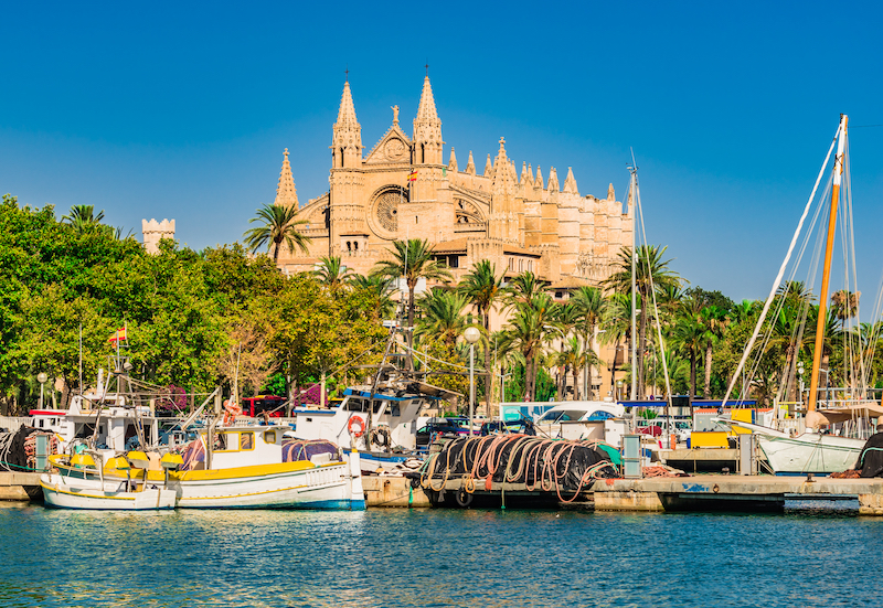 The famous marina in Mallorca